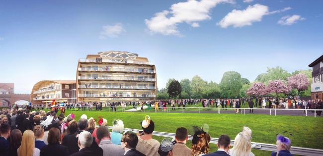 CGI image of how the development at Chester Racecourse would look.
