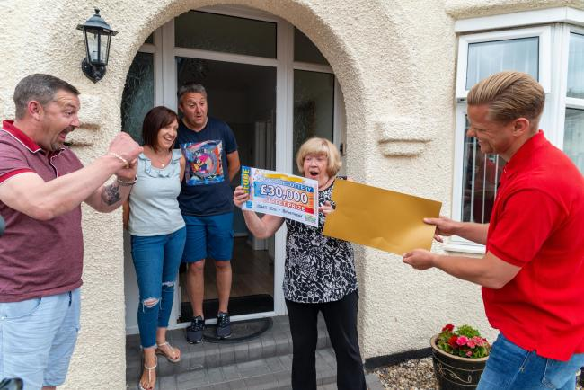Jane Dunroe was joined by her family when she received the knock on her door from Jeff Brazier