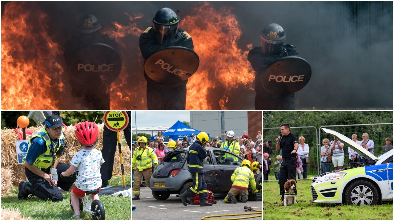 Thousands enjoy action-packed look into work of Cheshire emergency services at fun open day