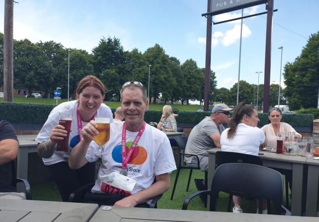 Paul Gilmore, deputy manager of Rivacre House, and support worker Lisa Lee took part in Liverpool to Chester Bike Ride. The pair cycled 25 miles, including a stretch through the Queensway Tunnel, which is cleared of motor vehicles for the annual event.