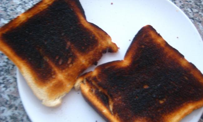 Burnt toast set off the smoke alarm at the Blacon flat.