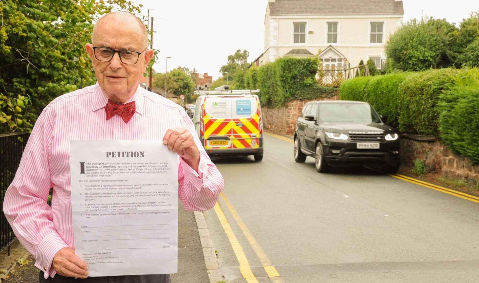 Chester: Petition launched to reduce speed limit on 'dangerous' Sandy Lane