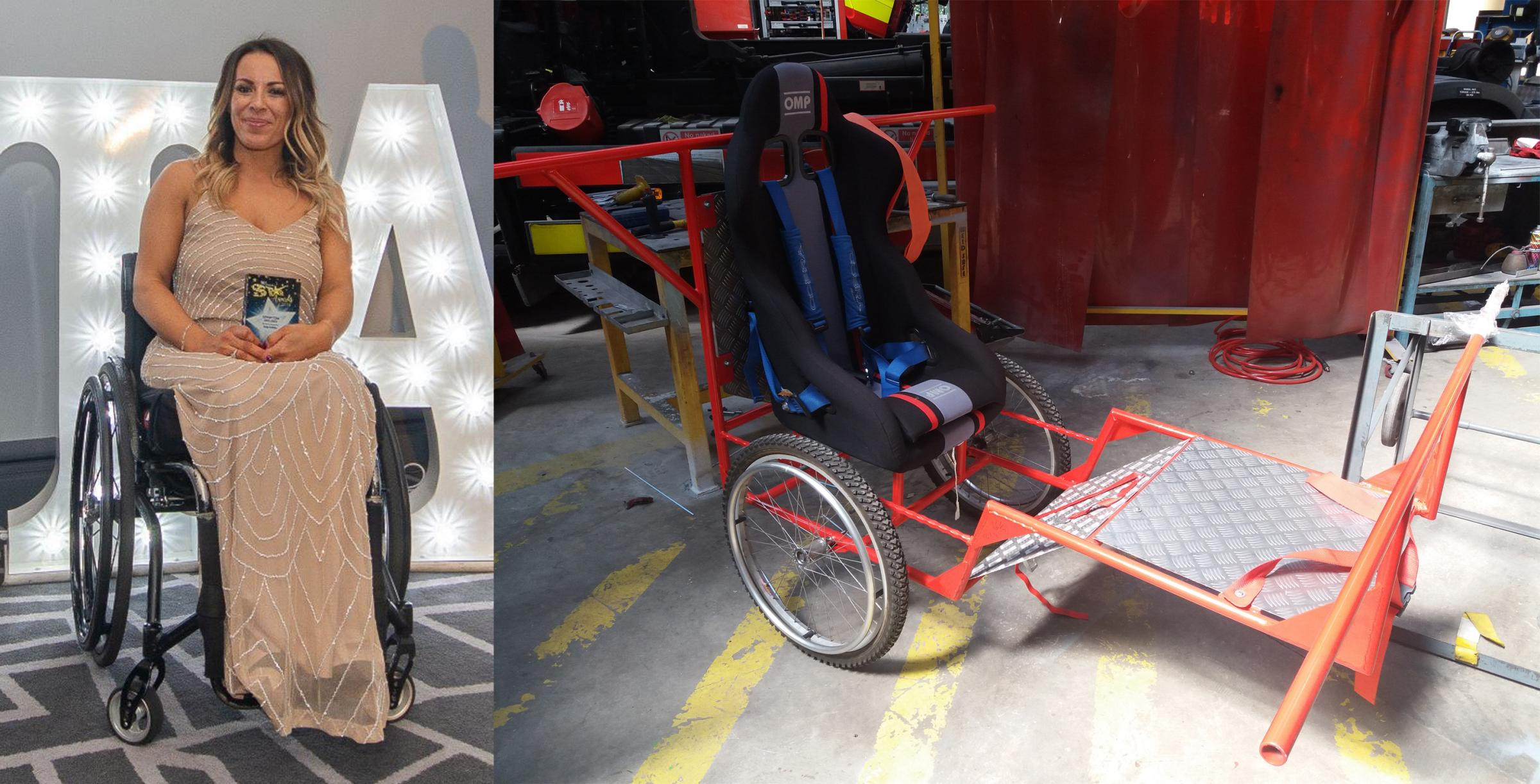 Cheshire lifesavers set to push paralysed colleague Vicki Griffiths to the top of Snowdon in specially-designed chariot