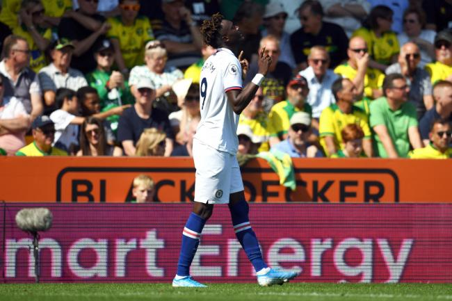Chelsea's Tammy Abraham celebrates scoring against Norwich