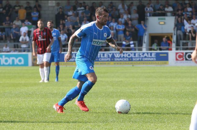 Scott Burton impressed in Chester's victory against Hereford. Picture: RICK MATTHEWS