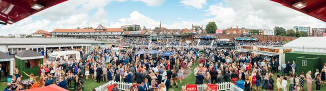 A panoramic 360-degree photo capturing racegoers at Chester Racecourse is available at the Chester Races website for people to tag themselves.