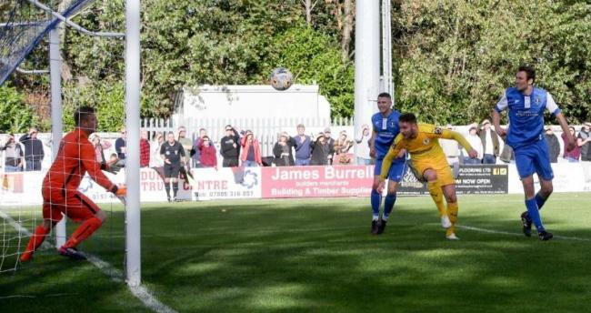 ELIMINATED: Action from Chester's 4-3 defeat at Dunston UTS last season. Picture: RICK MATTHEWS