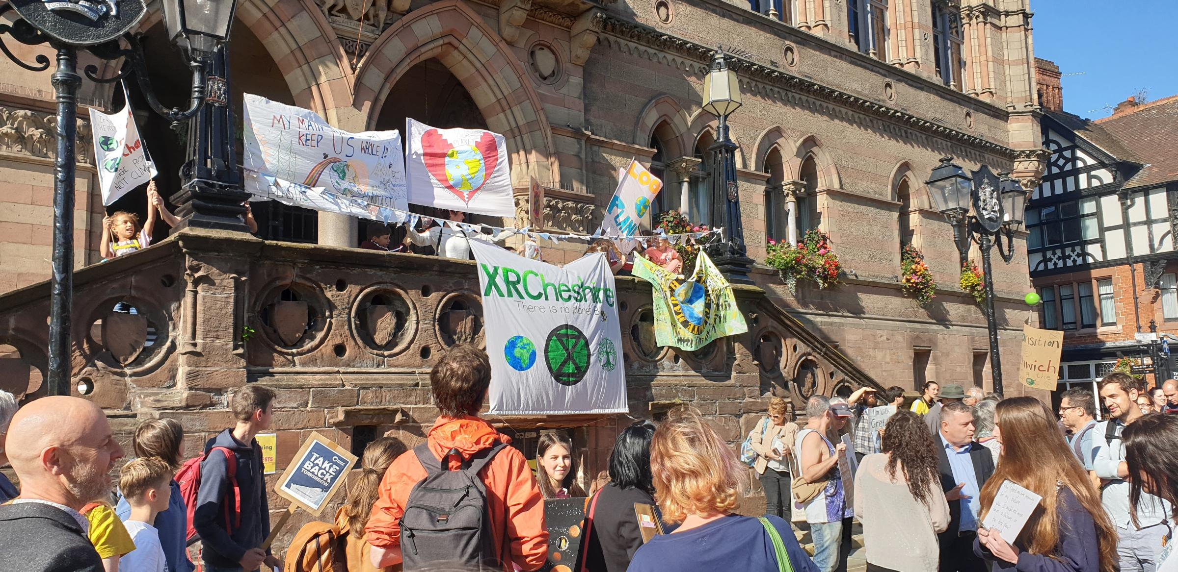 Hundreds show support for global 'climate strike' in Chester