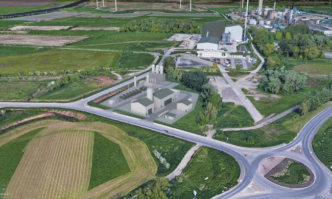 Peel Environmental's proposed £7m plant to convert plastic waste into hydrogen fuel.