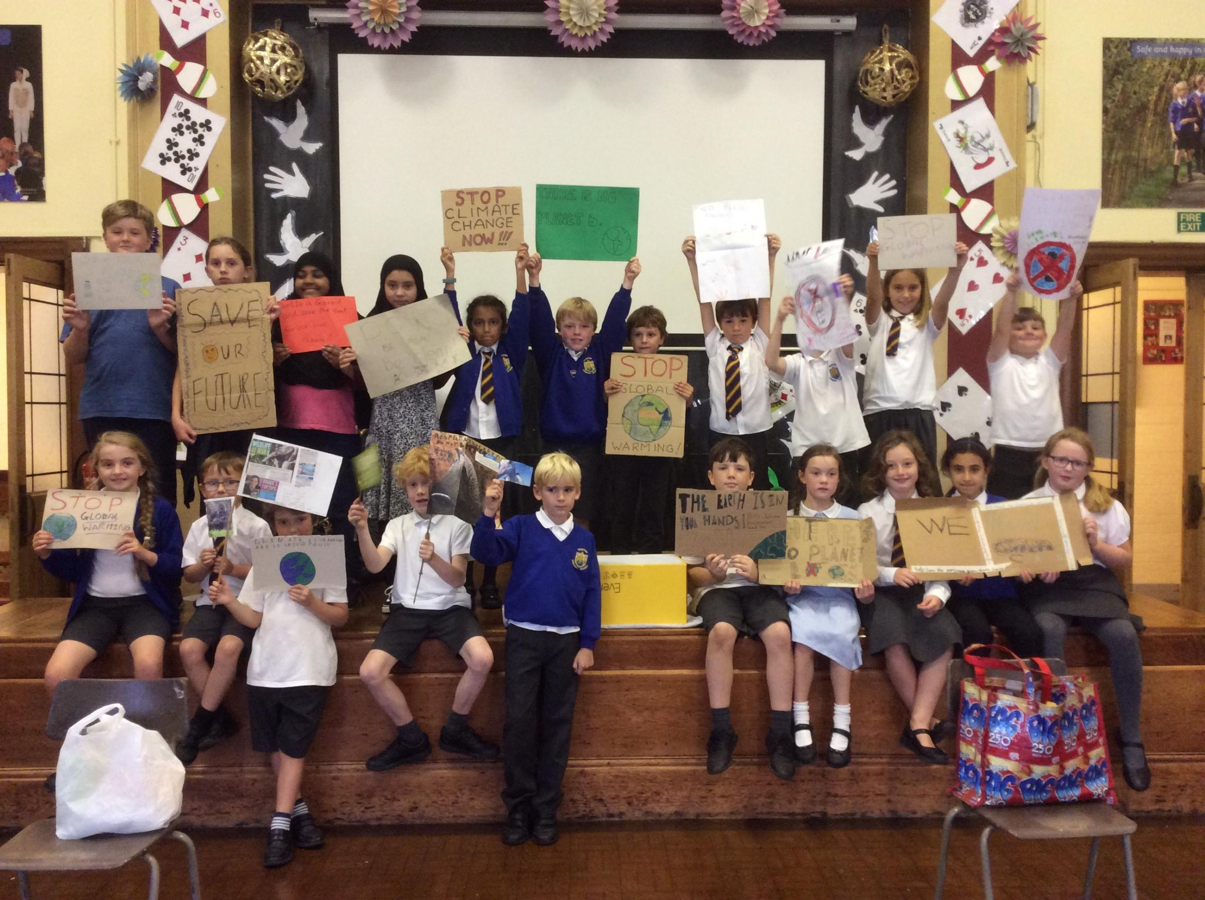 Newton Primary School Chester pupils hold 'Action day' to promote eco message