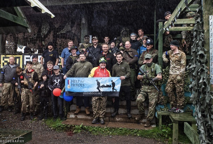 Help for Heroes fundraiser at paintball venue near Chester is big success