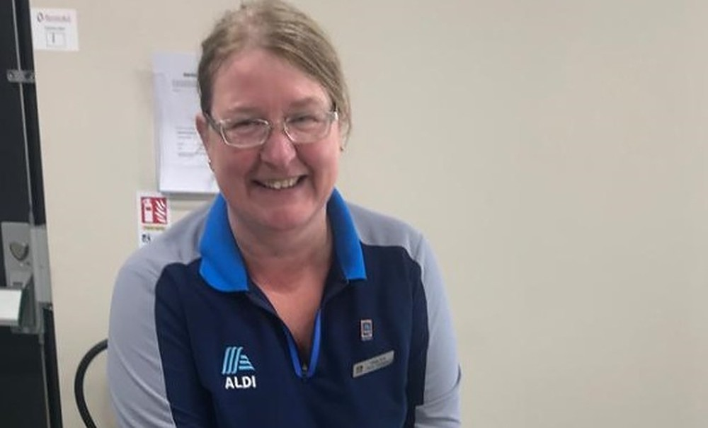 Aldi employee recognised for 25 years' service