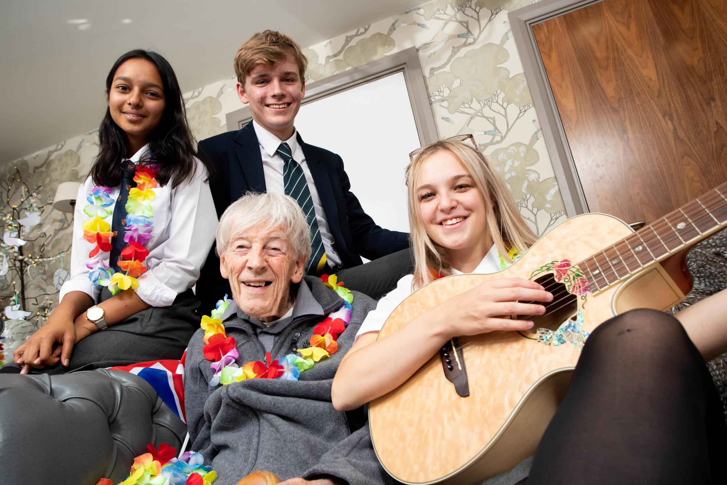 Magical moment as 94-year-old songwriter with dementia sings one of his hits with King's School Chester pupils