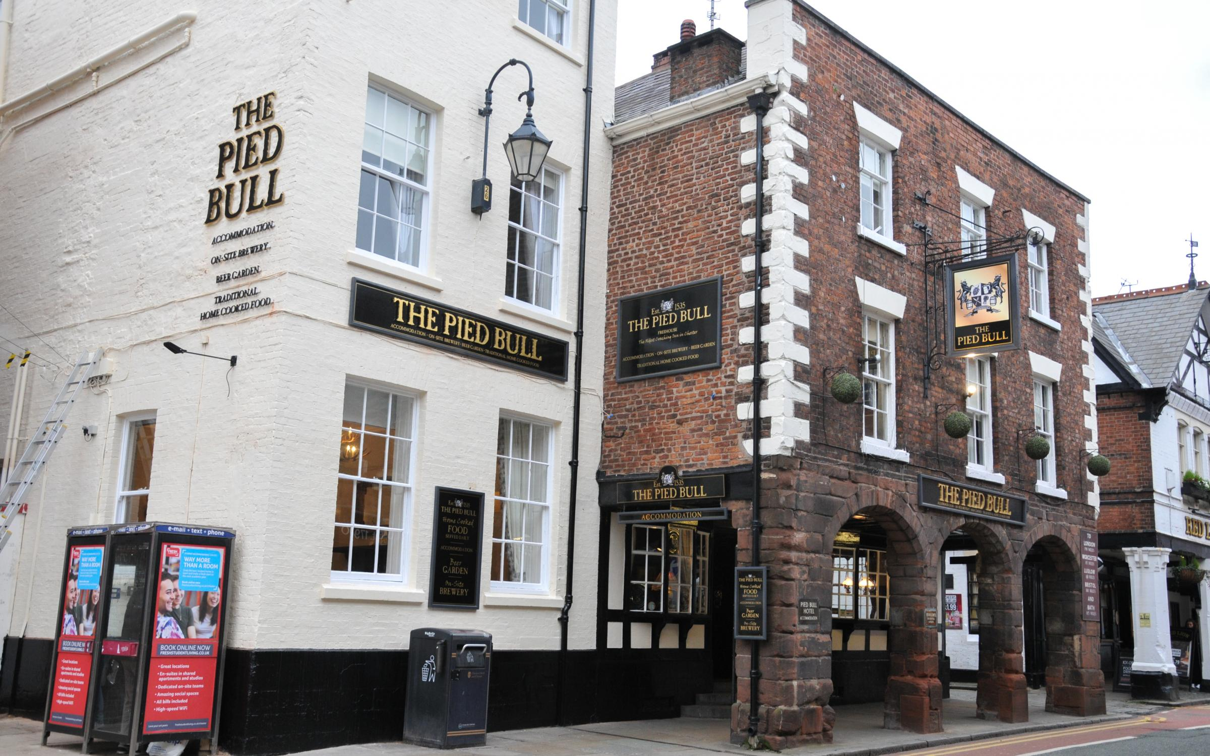 Chester: Dancing football fan lit flare sparking evacuation of Pied Bull pub