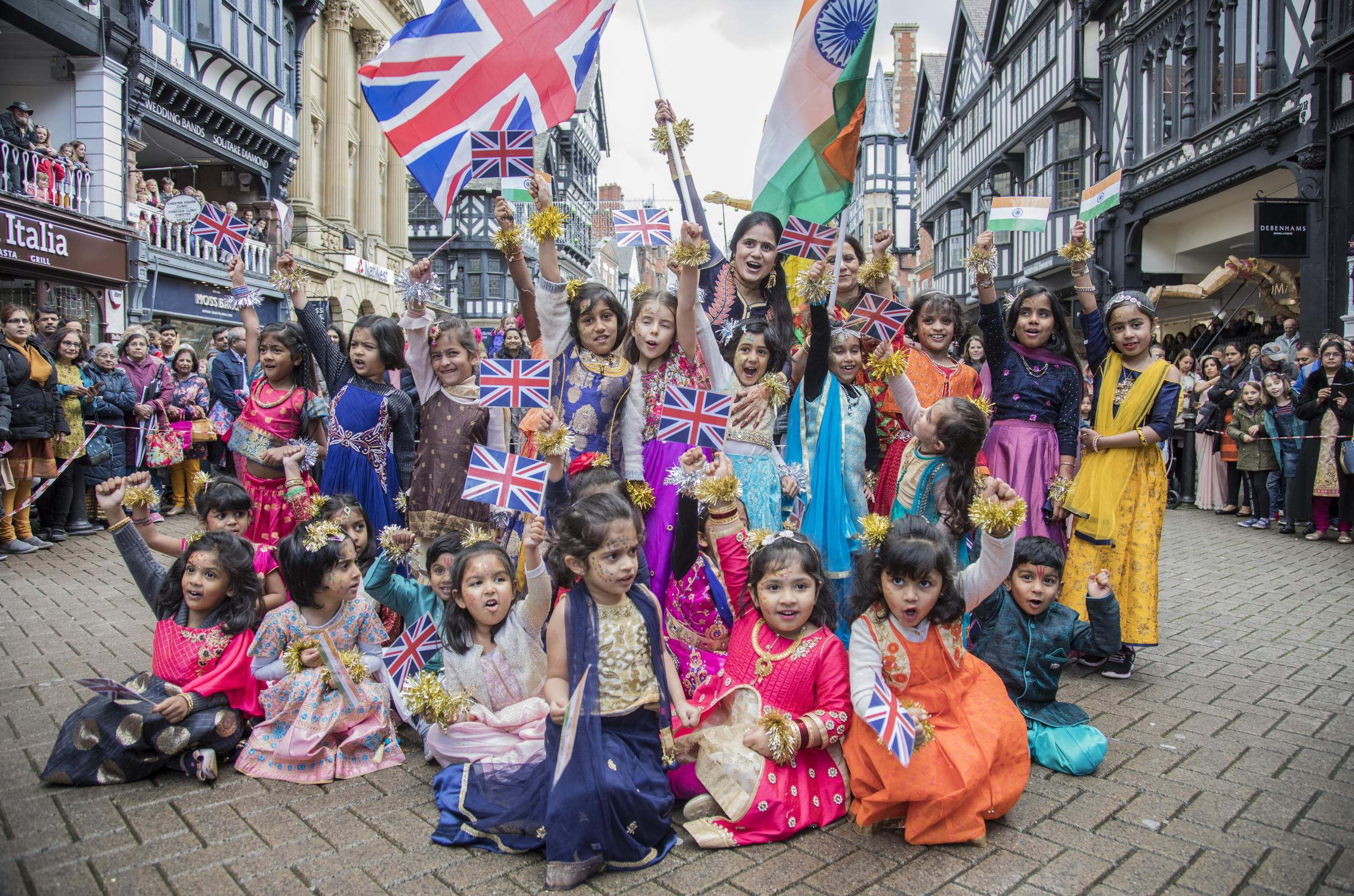 Dazzling displays of dance as Diwali festival brightens up Chester city streets