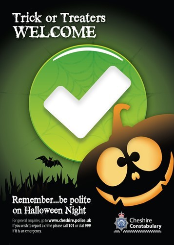 Warning from Cheshire Police to stay out of trouble this Halloween