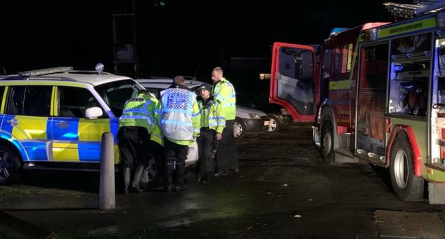 Emergency services during floods in Nantwich (Images: Cheshire Police)