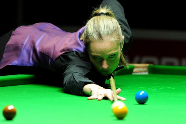 Reanne Evans came close to beating Shaun Murphy