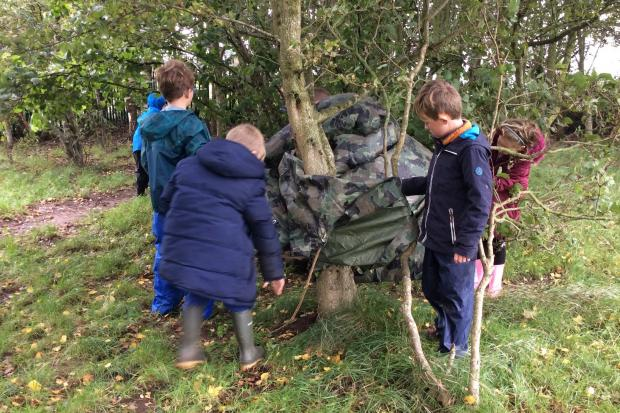 The Forest School at Woodfall Primary School.
