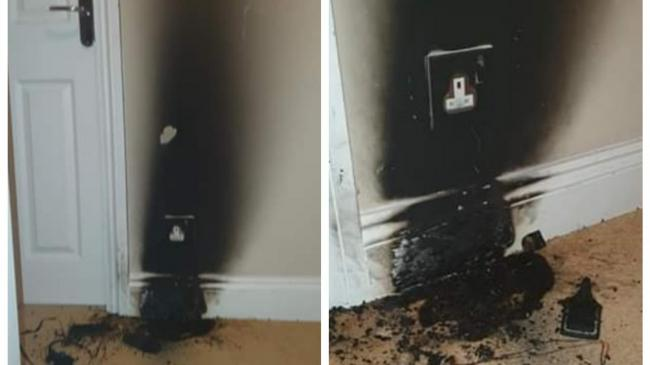The fire was caused by a razor that was left plugged in overnight.