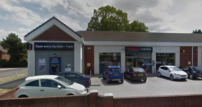 Tesco Express in Upton. Image from Google.