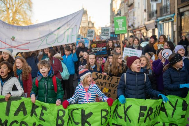 Tens of thousands' of children skip school for climate strike ...