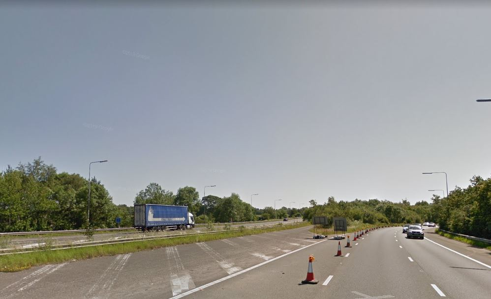 Carriageway reopens after lorry spills its cargo of soya across part of M53