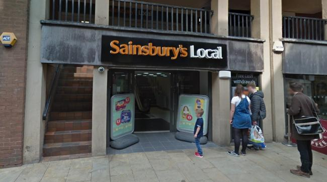 Sainsbury's Local on Watergate Street, Chester. Image from Google.