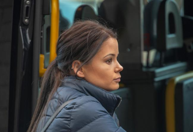 Nicole Lyons arriving at Chester Crown Court. Image courtesy of Andrew Price.