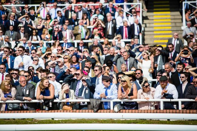 Crowds at Chester Racecourse's Boodles Festival.