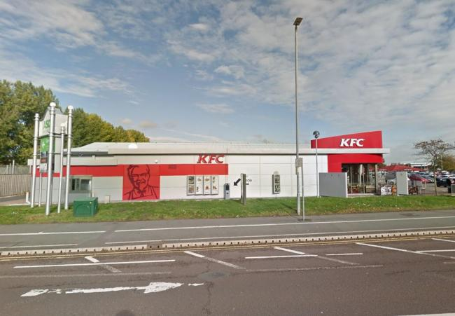 The KFC drive-thru at Chester.
