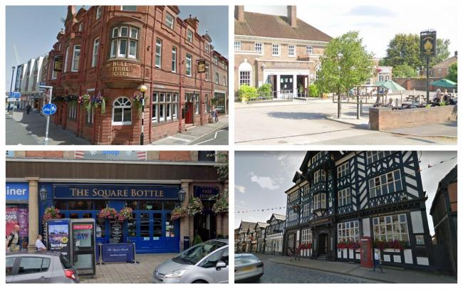 Wetherspoon's pubs in Cheshire.