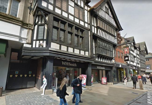 WH Smith in Chester. Image: Google StreetView