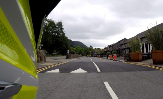 A car was stopped in Beyws-y-coed. Image: NWP