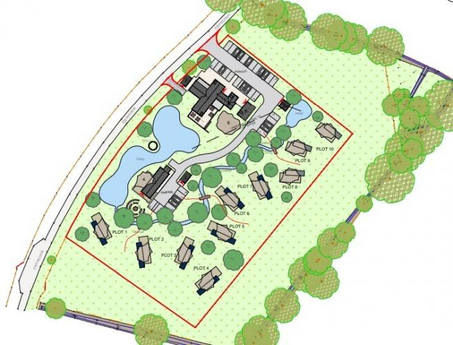 Plans have been lodged for a glamping site with a farm shop and cafe in Tilston, near Malpas.