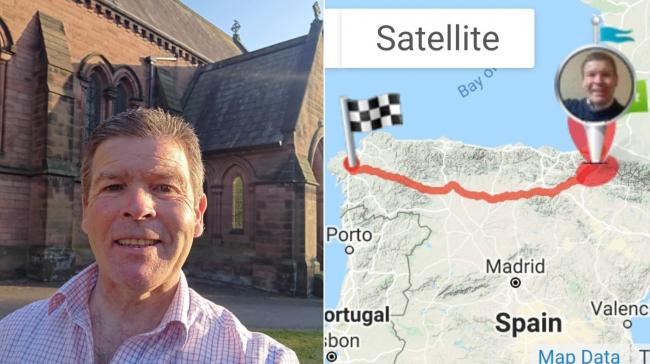 Chester vicar Steve Sheridan is taking on a 480-mile 'virtual pilgrimage' for charity.