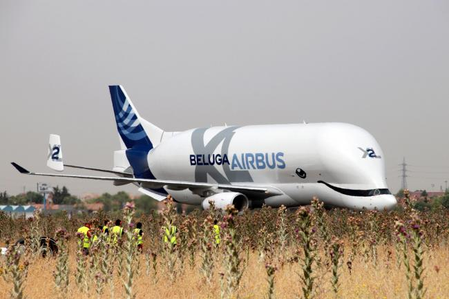 Airbus' gigantic BelugaXL aircraft adds another site in Europe to its network