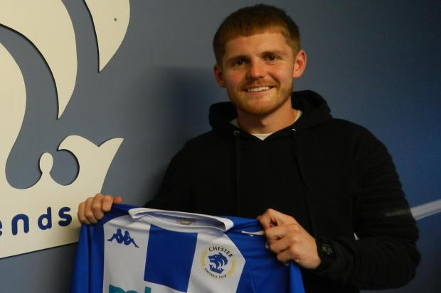 NEW SIGNING: Declan Weeks. Picture: CHESTER FC