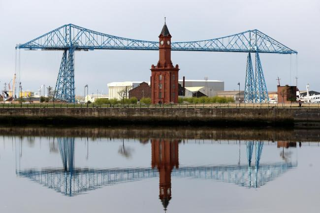 A general view of the Transporter Bridge, Middlesbrough (Owen Humphreys/PA)