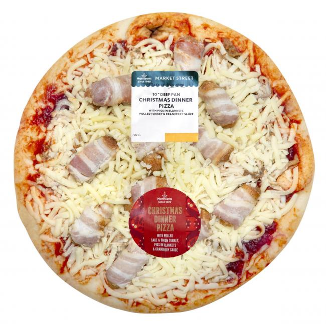 Morrisons unveils limited edition Christmas Dinner Pizza with pigs in blankets
