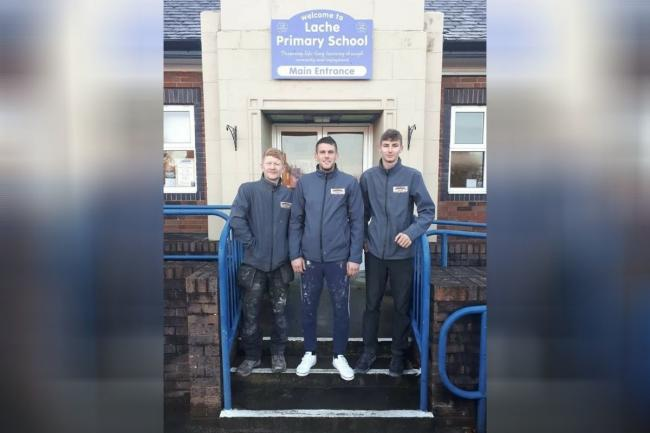 Lache Primary School is full of praise for Craig Brown, Adam Brown and David Stevenson, of Brown & Sons Roofing Specialist.