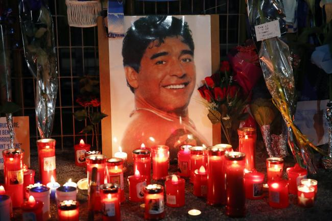 Diego Maradona died on Wednesday aged 60 (Alessandra Tarantino/AP).
