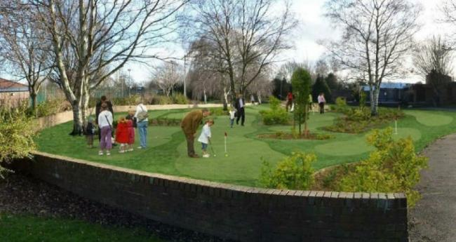 An artist's impression of the 18-hole putting course at Westminster Park, Chester.