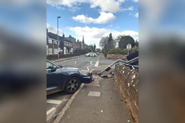 The incident on Eaton Road. Picture: Chester Police.