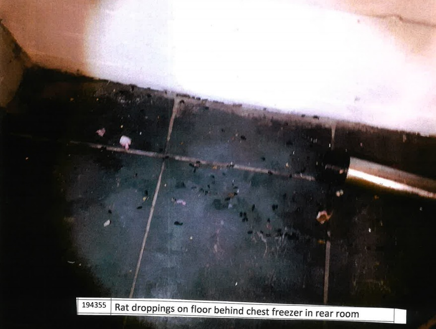 The filthy conditions found inside Chai Station, Brook Street, Chester.