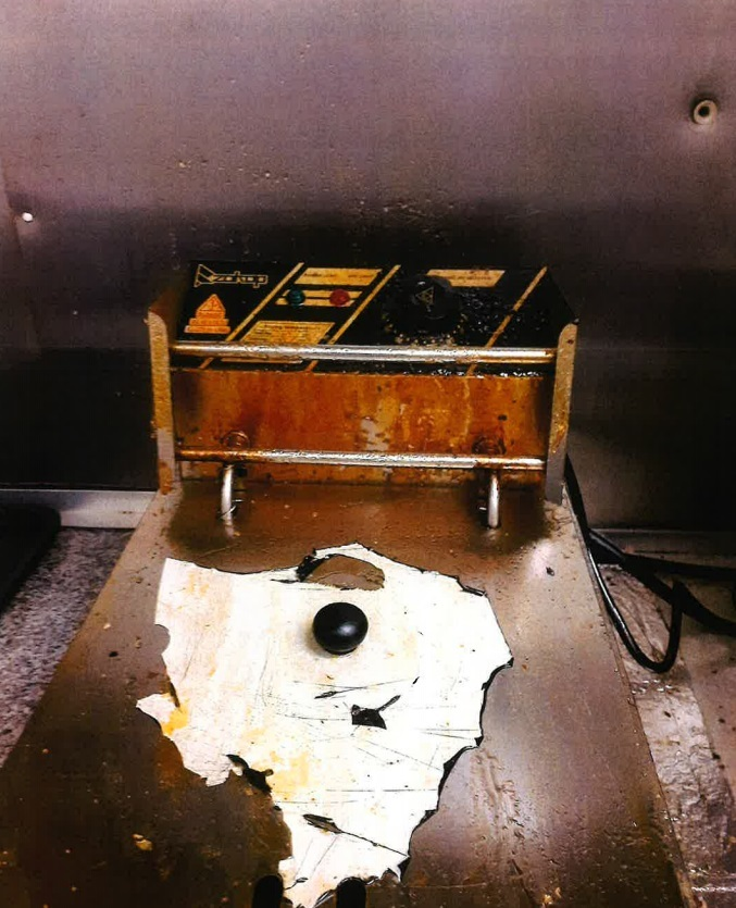 The greasy fryer.