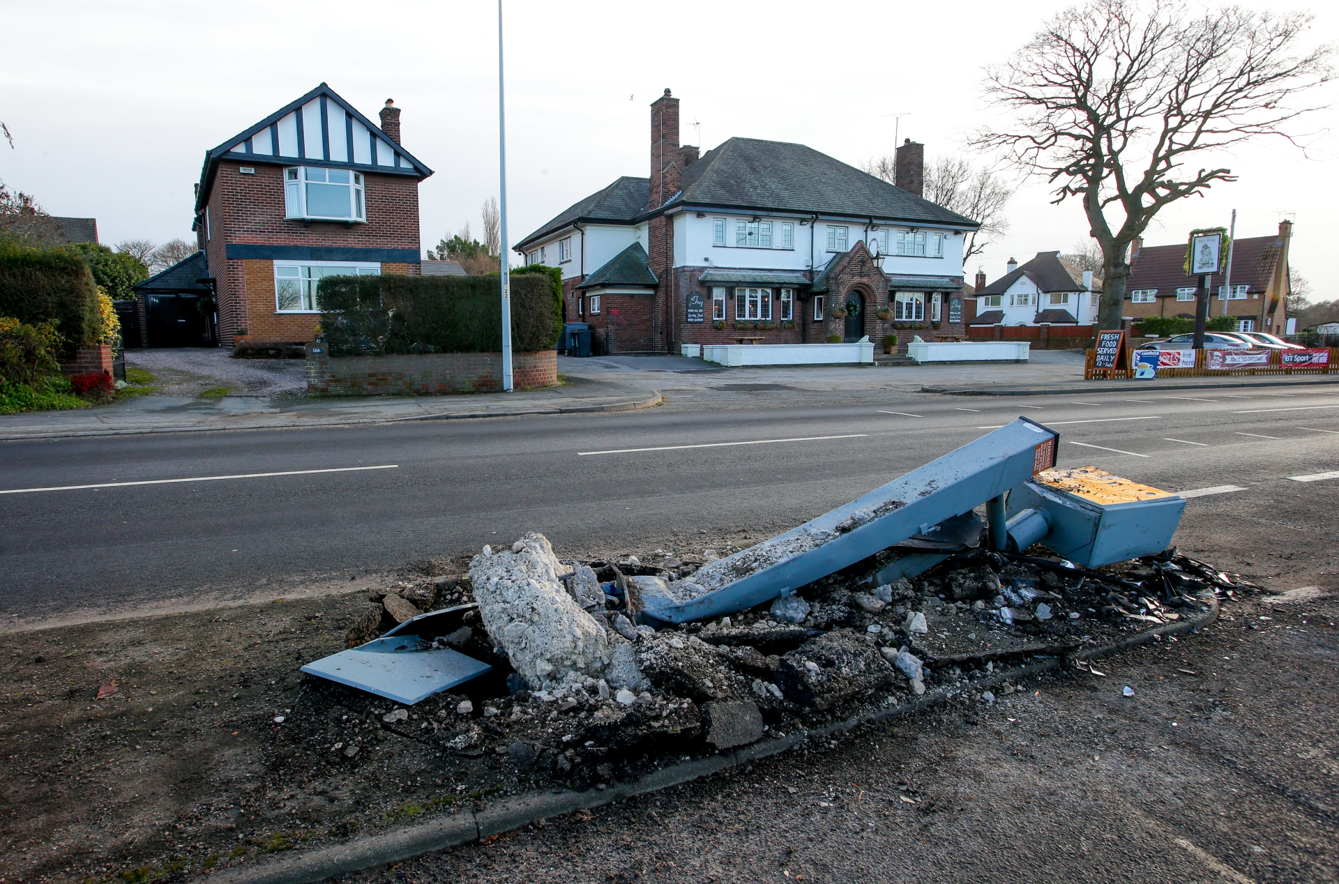 Ambulance crash destroys Chester speed camera | Chester and