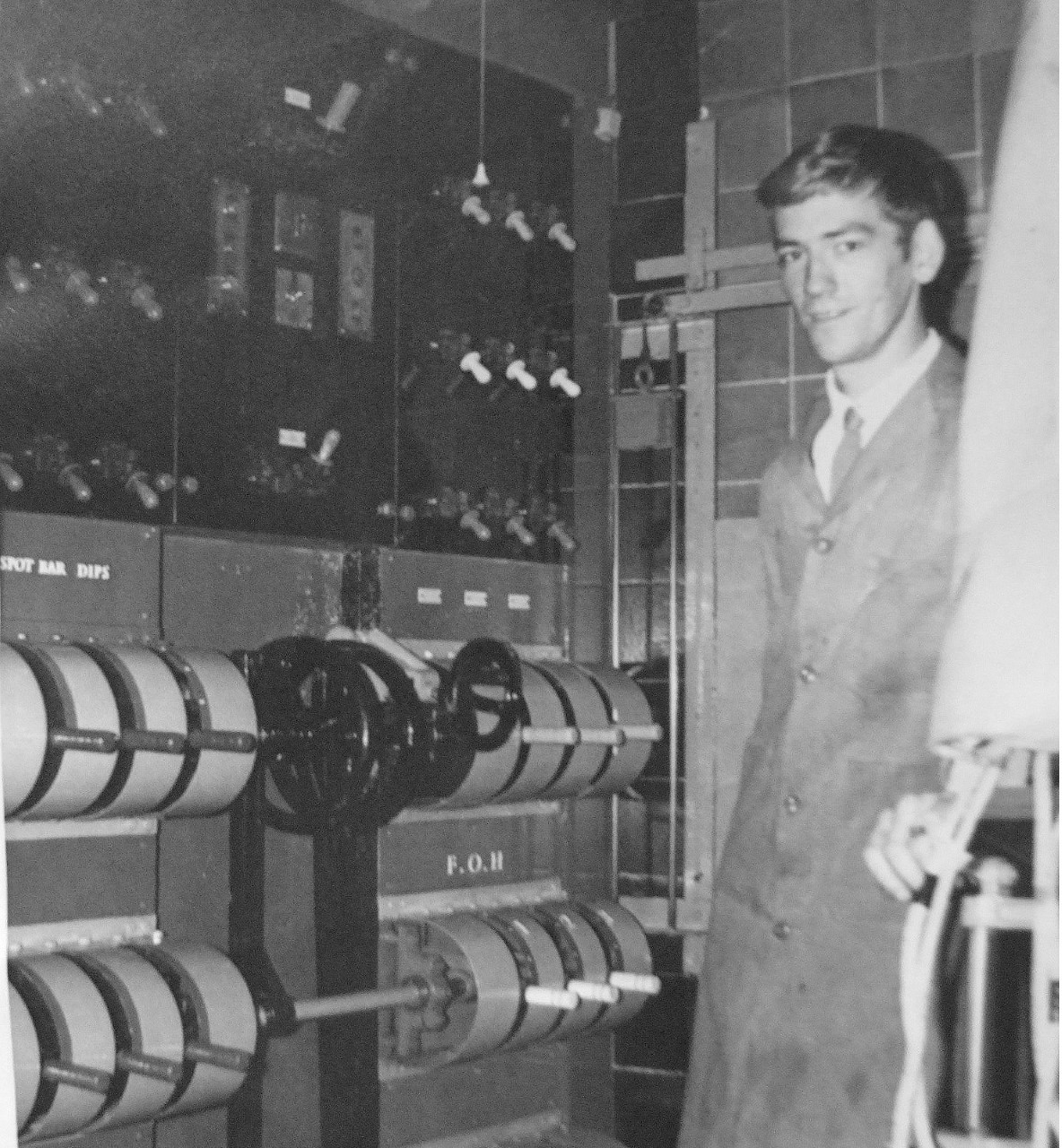 Event organiser Peter Davies at the Regal Cinema lighting board in 1967