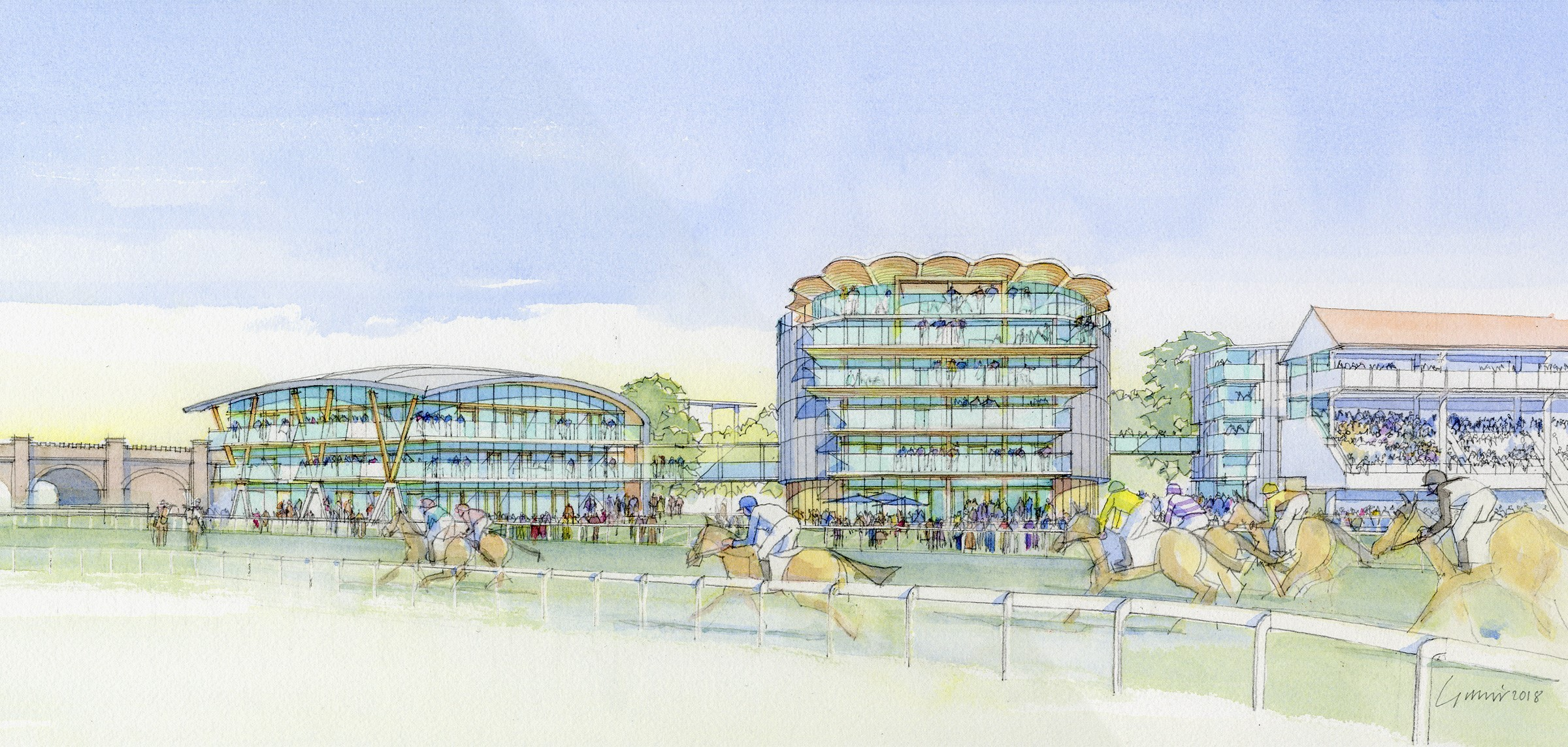 An artist's impression of the masterplan for Chester Racecourse.