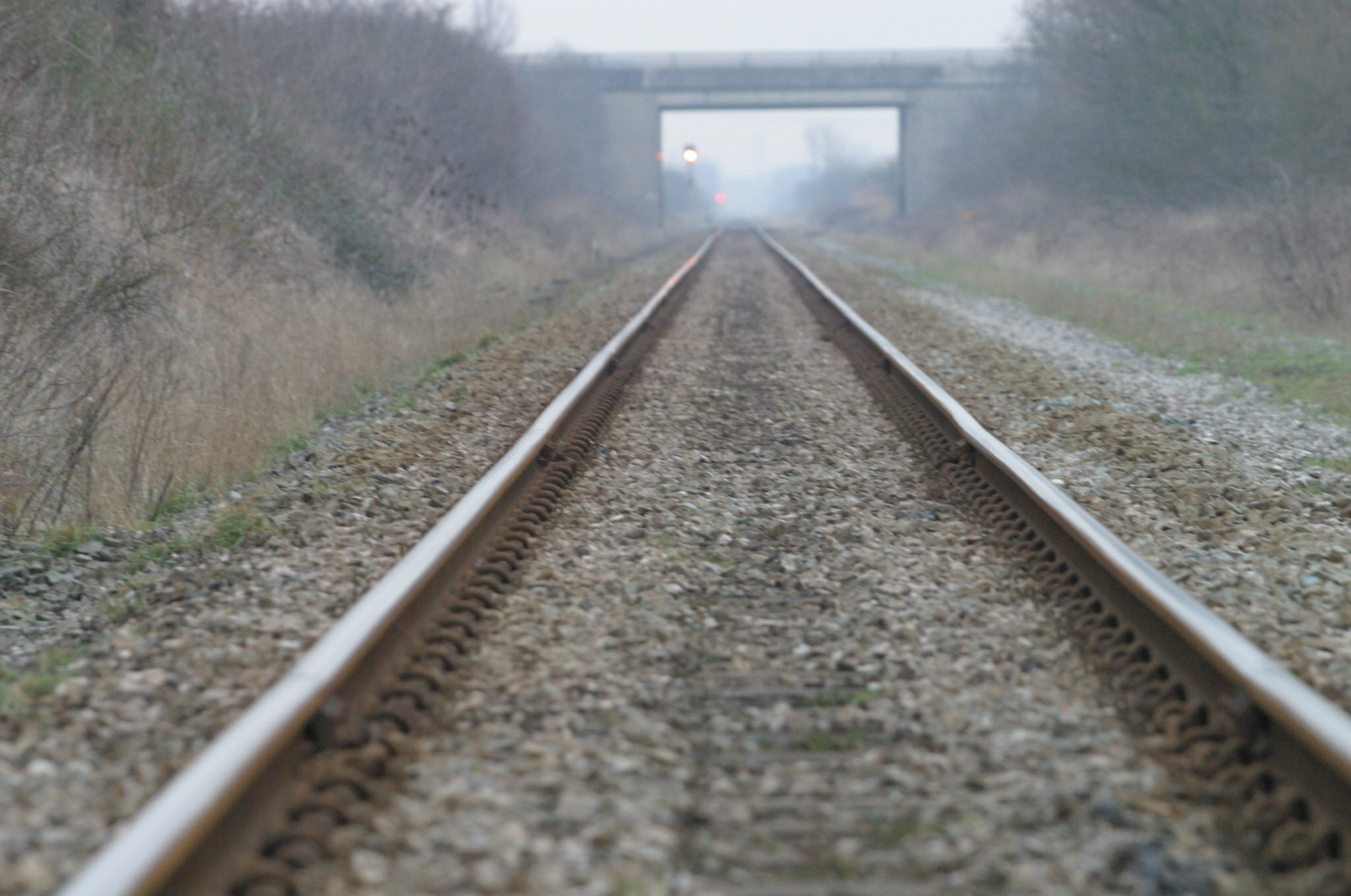 Police searched train tracks in freezing conditions